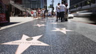 Hollywood Boulevard, Hollywood Walk of Fame, Los Angeles, California, United States of America, Time-lapse