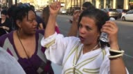 Broll of the Flash mob dance tribute to Prince put on by Black Lives Matter on Hollywood Blvd Interview with the organizer of the flash mob that made...
