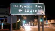 Hollywood Freeway-Nahaufnahme Zeitraffer