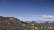 Hollywood Sign Up in the Hills - Time Lapse