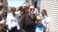 Hollywood star and UN High Commissioner for Refugees Goodwill Ambassador Angelina Jolie shops in Turkey's southeastern province of Mardin where she...