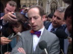 'Home Alone' mother freed by appeal court NAF London High Court EXT Steven Jonas speaking to press SOT Heidi Colwell is relieved at the judgement/...