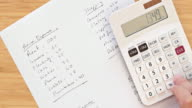 Home finance - calculating monthly expenditure