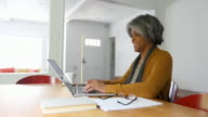 Home Finances On Computer by African American Senior Woman