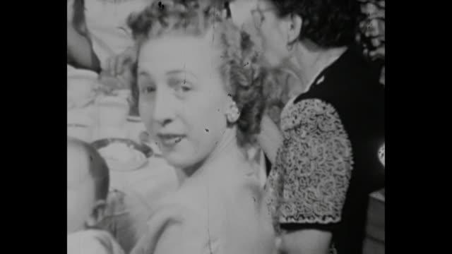 1948 Home Movie - Family dinner on Christmas Eve