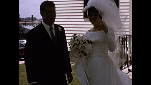 1965  Home Movie - Newylweds coming out of church