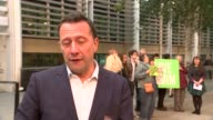 Home Office accused of ignoring court order to return Afghan refugee to the UK ENGLAND London EXT Reporter to camera SOT Sign outside the Home Office...