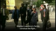 News from 1997 BSP240697029 TX Home Office EXT Family of murdered teenager Stephen Lawrence along
