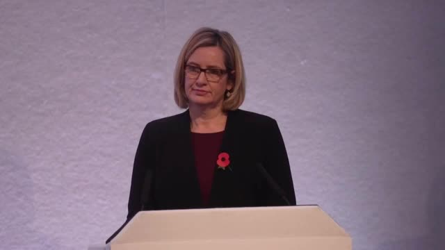 Home Secretary Amber Rudd addresses the National Police Chiefs and Association of Police and Crime Commissioners Conference She answers a question...
