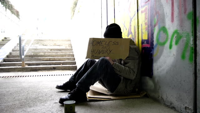 HD DOLLY: Homeless Person Begging