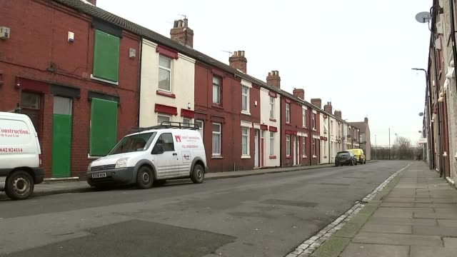 Homes of asylum seekers 'marked by red front doors' in Middlesbrough General views / refugee interview ENGLAND Teeside Middlesbrough EXT Various...