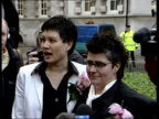 first couple marry under new civil partnership laws Reverend David McLaughlin interviewed SOT We believe God instituted marriage in the beginning...