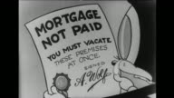 Honey bear receives Mortgage Not Paid notice and that she must vacate the premises