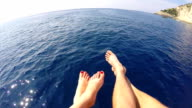 Luna di miele viaggio. Volando sopra il mare