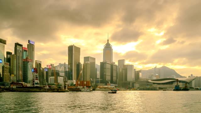 Hong Kong City Side View Island Panning