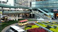 Hong Kong City Traffic Kreisverkehr