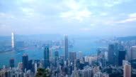 Hong Kong Tag zur Nacht, Timelapse