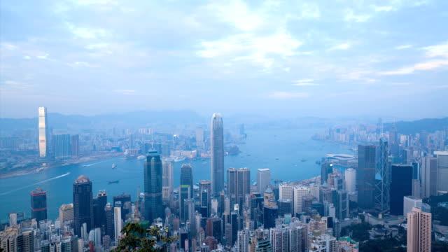 Hong Kong Day to Night Timelapse