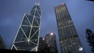 Hong Kong Financial district skyscrapers