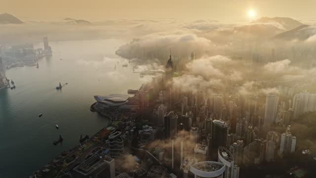 Hong Kong van lucht bij zonstijging