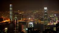 Hong Kong bei Nacht.
