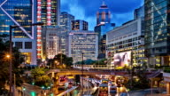 skyline von Hongkong.