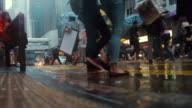 Hong Kong street im Regen