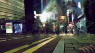 Zeitraffer-Hong Kong Stadtleben