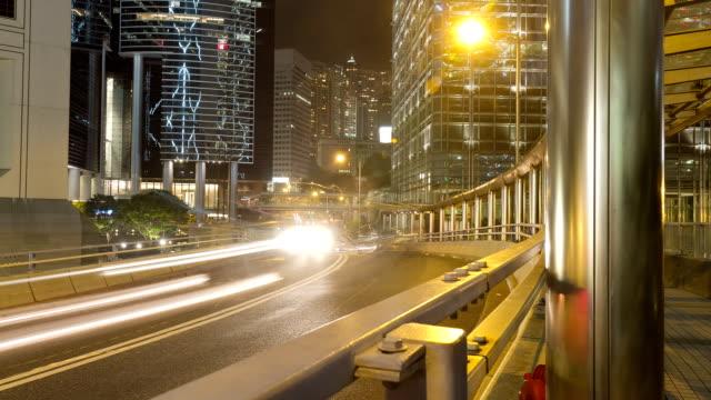 Hong Kong Straße Zeitraffer