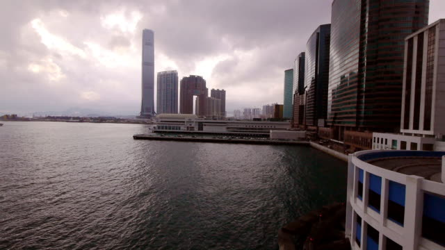Hong Kong Time Lapse in Harbor Area