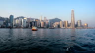 Hong Kong,China-Nov 17,2014: The different view by sailing on the sea, Hong Kong,China
