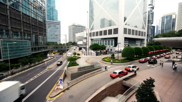 Hongkong Central Business District Street traffic