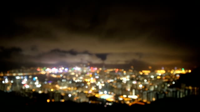 HD VDO : Hongkong city at night