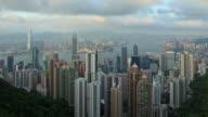 hongkong HD timelapse of from Victoria peak