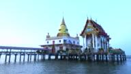 Hongthong measure at samutprakarn built on the sea