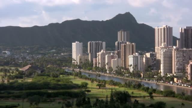 Honolulu Hawaii Diamond Head Waikiki Buildings Ala Wai