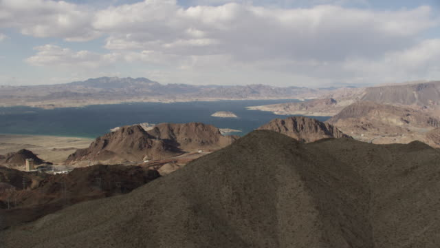 Hoover Dam Area And Cars Driving On Route 93