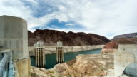 Hoover Dam with low level of water