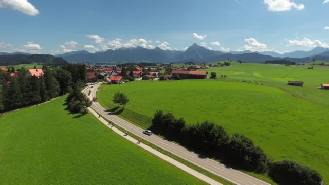 Hopferau Dorf im östlichen Allgäu In Bayern