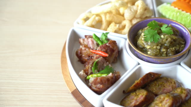 hors d'oeuvres voor traditionele gerechten van Noord-Thailand
