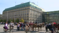 MS Horse carriages at pariser platz in front of hotel adlon / Berlin, Germany