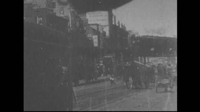 Horse drawn carriage advertising 'Blue Point Oysters'