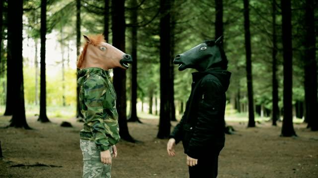 Hoofd masker paard