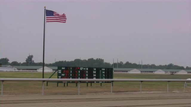 Horse Racing. Horseracing track and equipment.