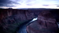 Horseshoe Bend Panorama at Dusk