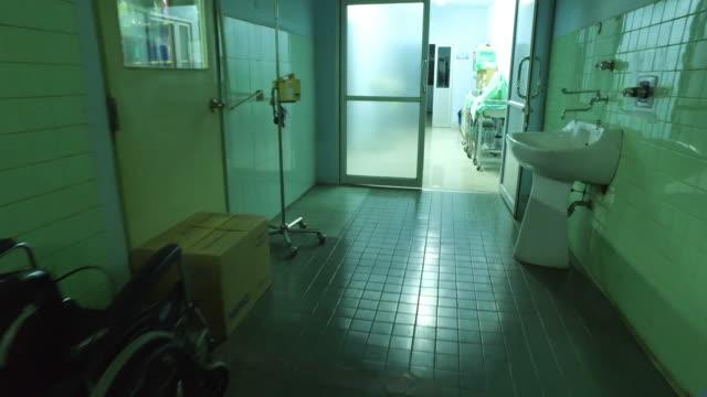 Krankenhaus-Korridor.