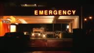 Hospital emergency room. Rettungswagen.