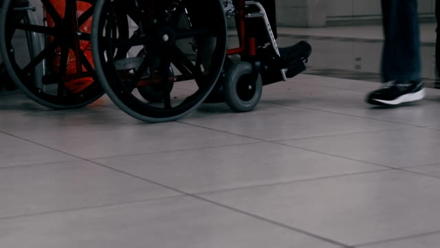 Hospital. Patient sitting in wheel chair