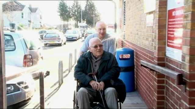 Hospital porter claims to be related to William the Conqueror ENGLAND Essex Southend EXT Jon Blackmore pushing patient along in wheelchair