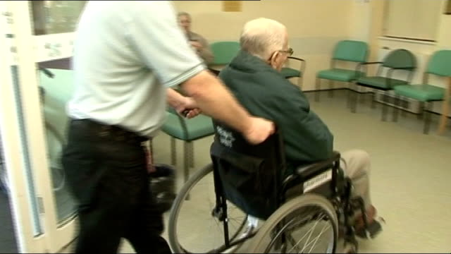 Hospital porter claims to be related to William the Conqueror Blackmore interview SOT Blackmore wheeling elderly man in wheelchair into hospital...